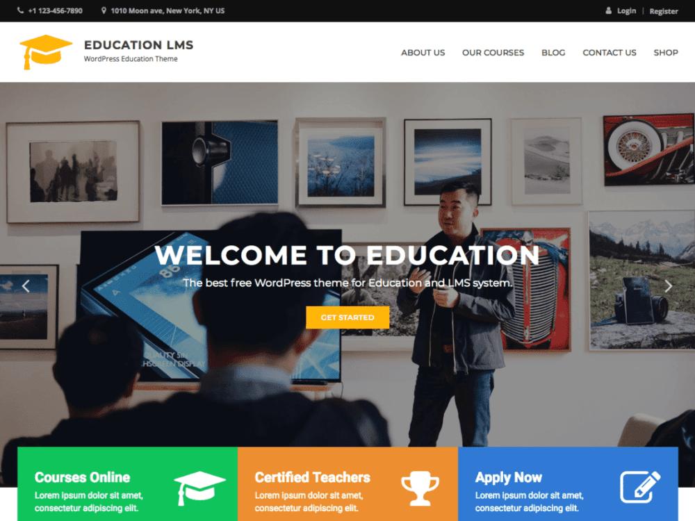 Free Education LMS Wordpress theme