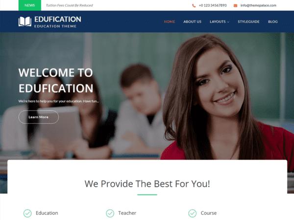 Free Edufication Wordpress theme