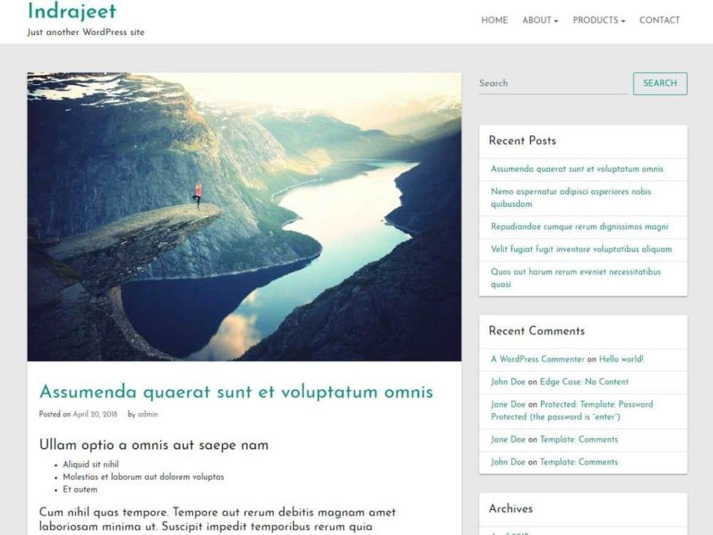 Free Indrajeet Wordpress theme