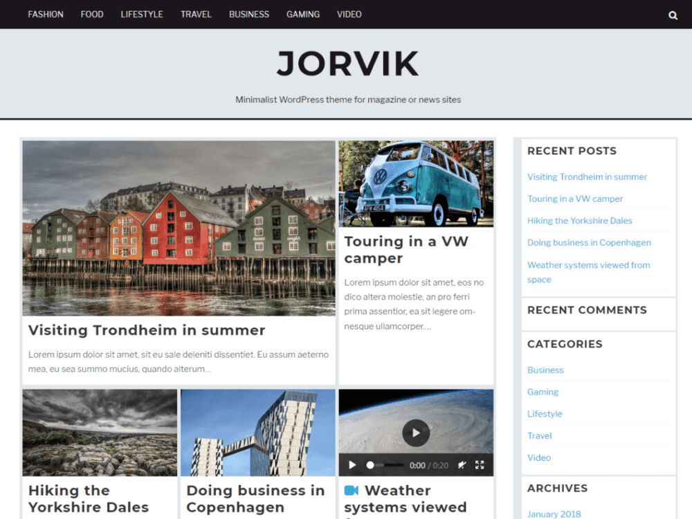 Free Jorvik Wordpress theme