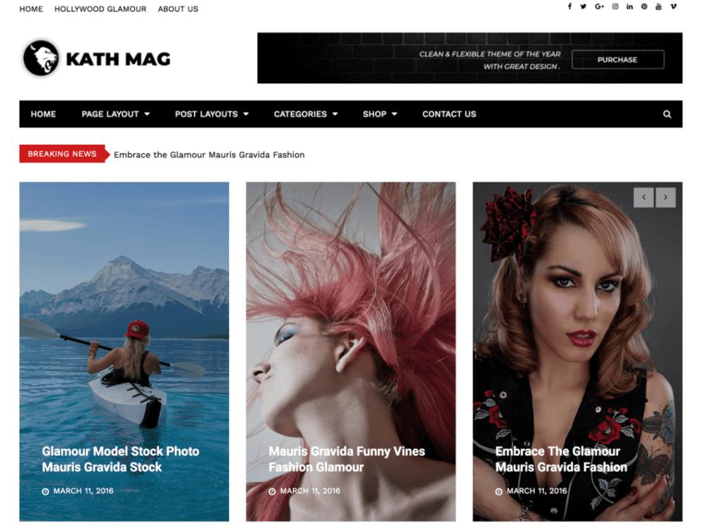Free Kathmag Wordpress theme