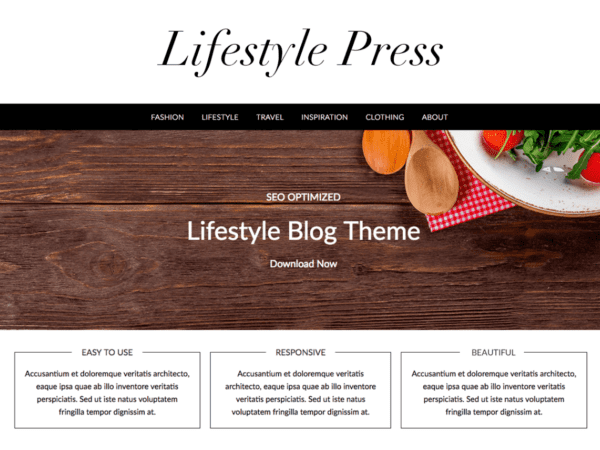 Free Lifestylepress Wordpress theme