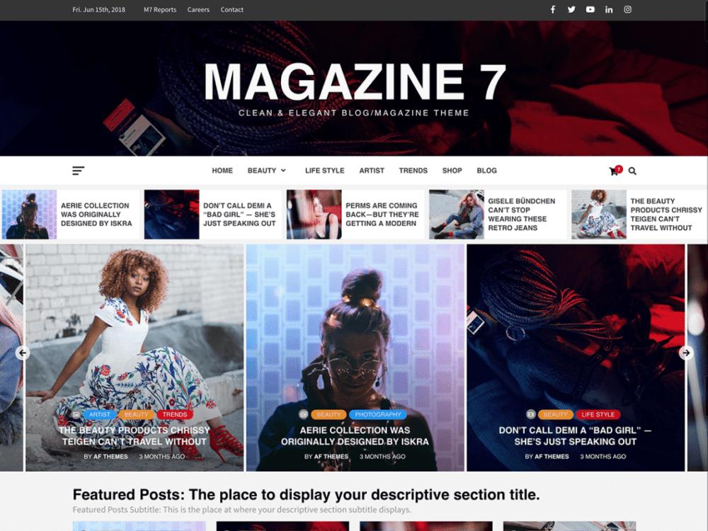 Free Magazine 7 Wordpress theme