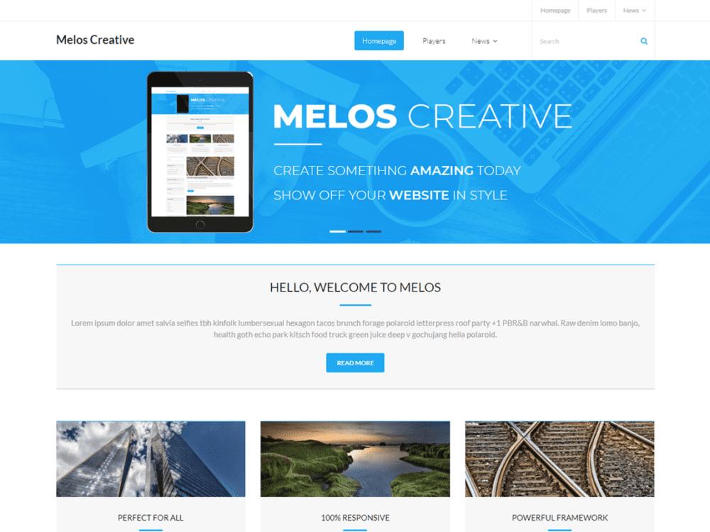 Free Melos Creative Wordpress theme