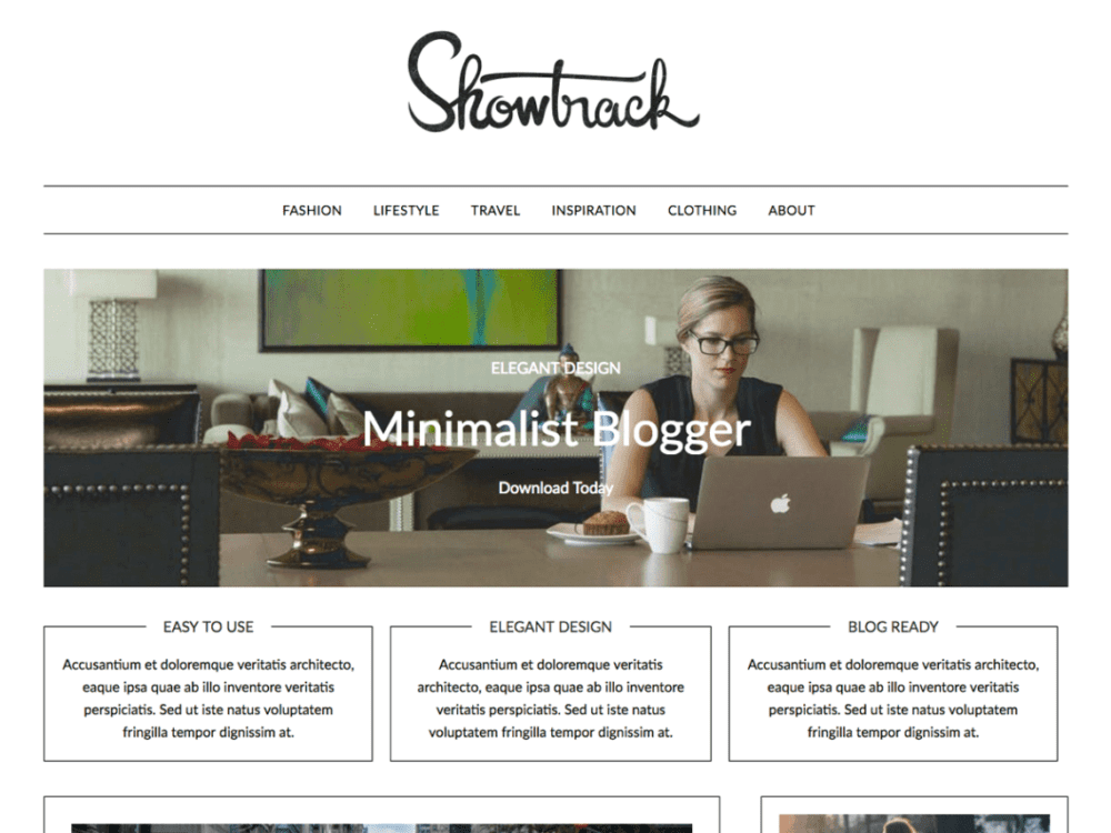 Free MinimalistBlogger Wordpress theme