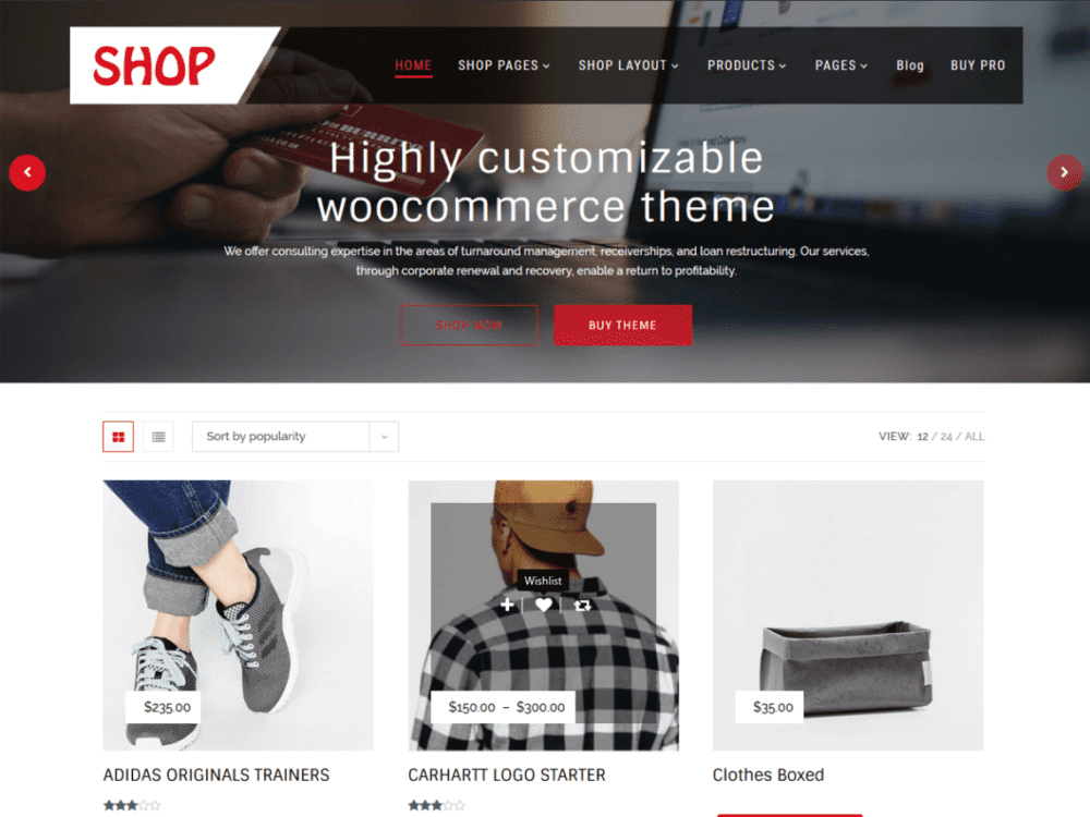 Free Multipurpose Shop Wordpress theme