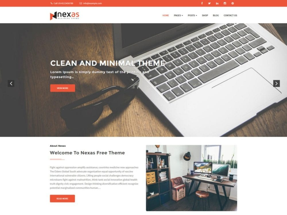 Free Nexas Wordpress theme