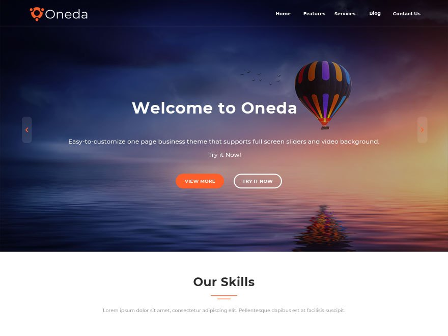 Free Oneda Wordpress theme