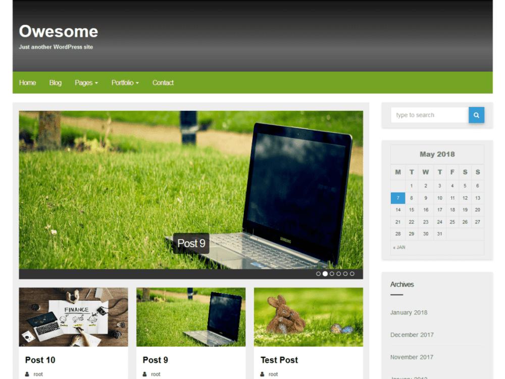 Free Owesome Wordpress theme