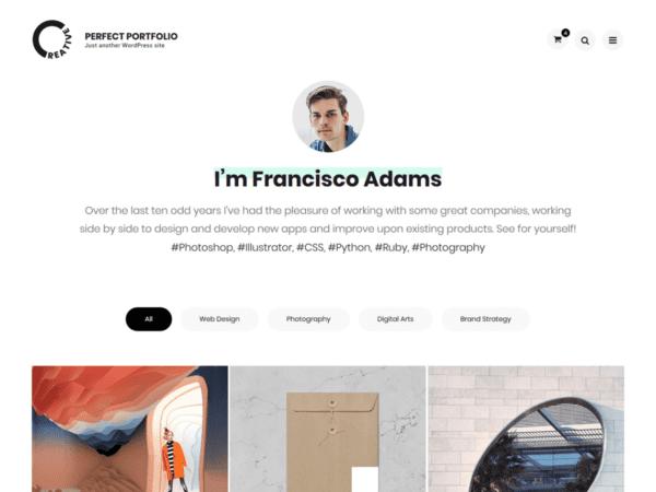 Free Perfect Portfolio Wordpress theme