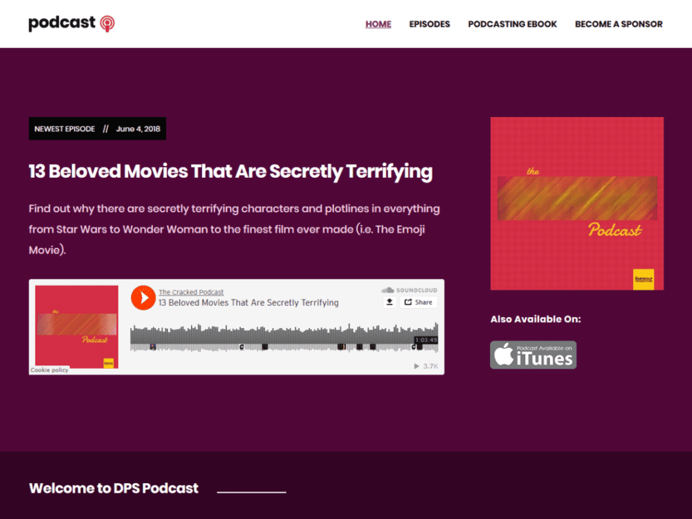 Free Podcast Wordpress theme
