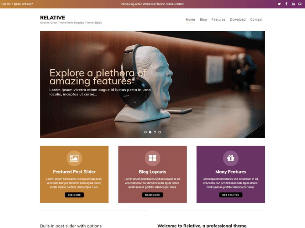 Free Relative Wordpress theme