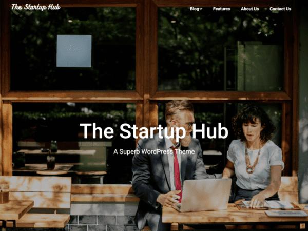Free Startup Hub Wordpress theme