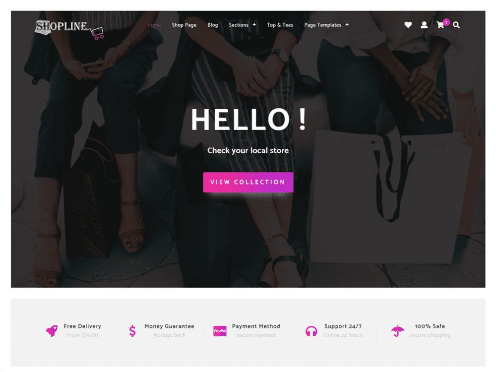 Free Store Shopline Wordpress theme