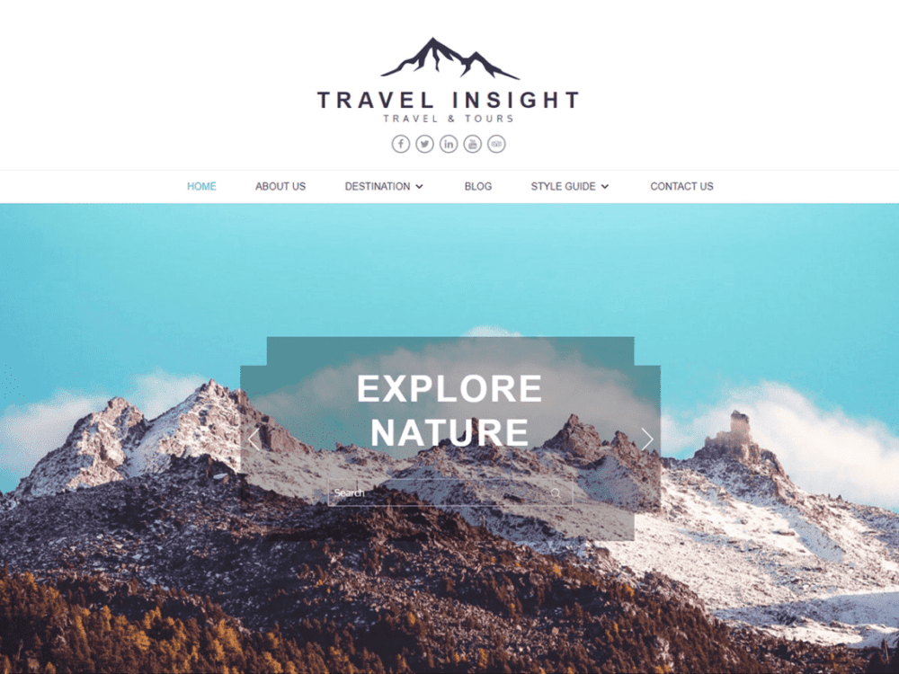 Free Travel Insight Wordpress theme