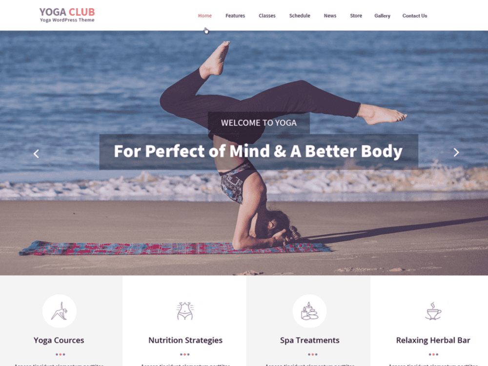 Free Yogaclub Lite Wordpress theme