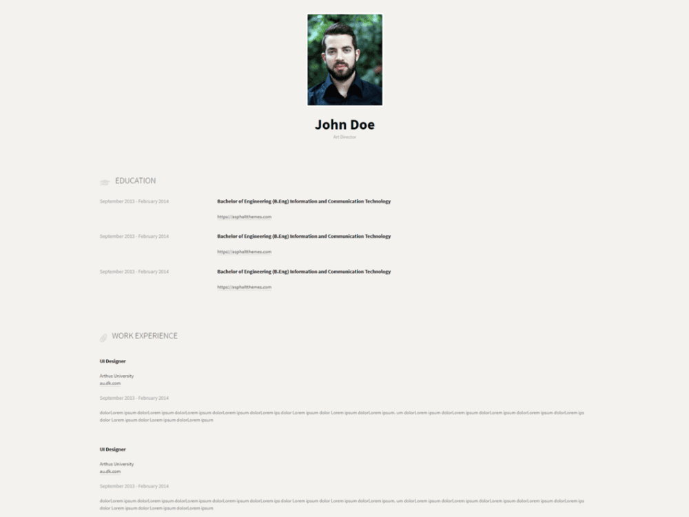 Free cvee Wordpress theme