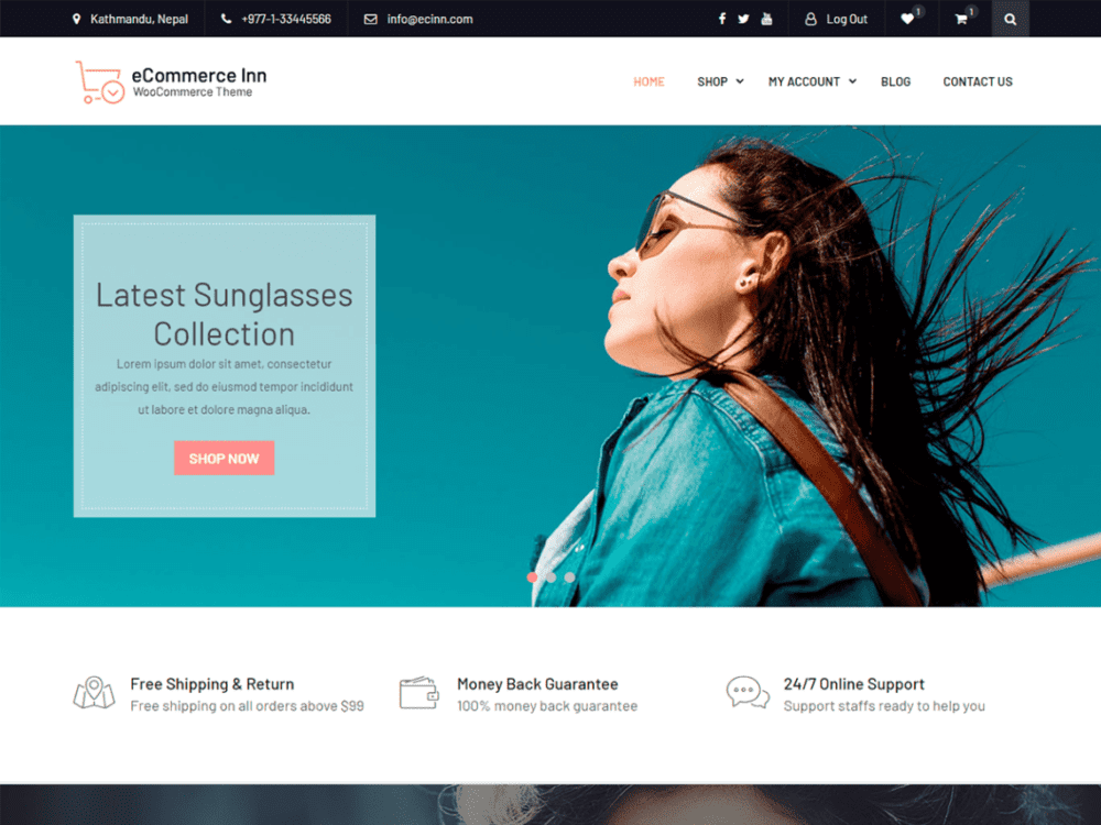 Free eCommerce Inn Wordpress theme