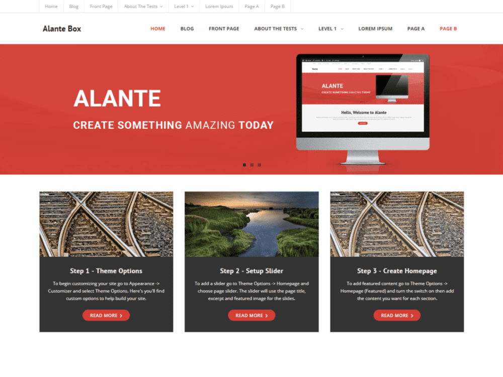 Free Alante Boxed Wordpress theme