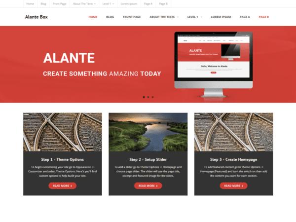 Free Alante Boxed Wordpress theme
