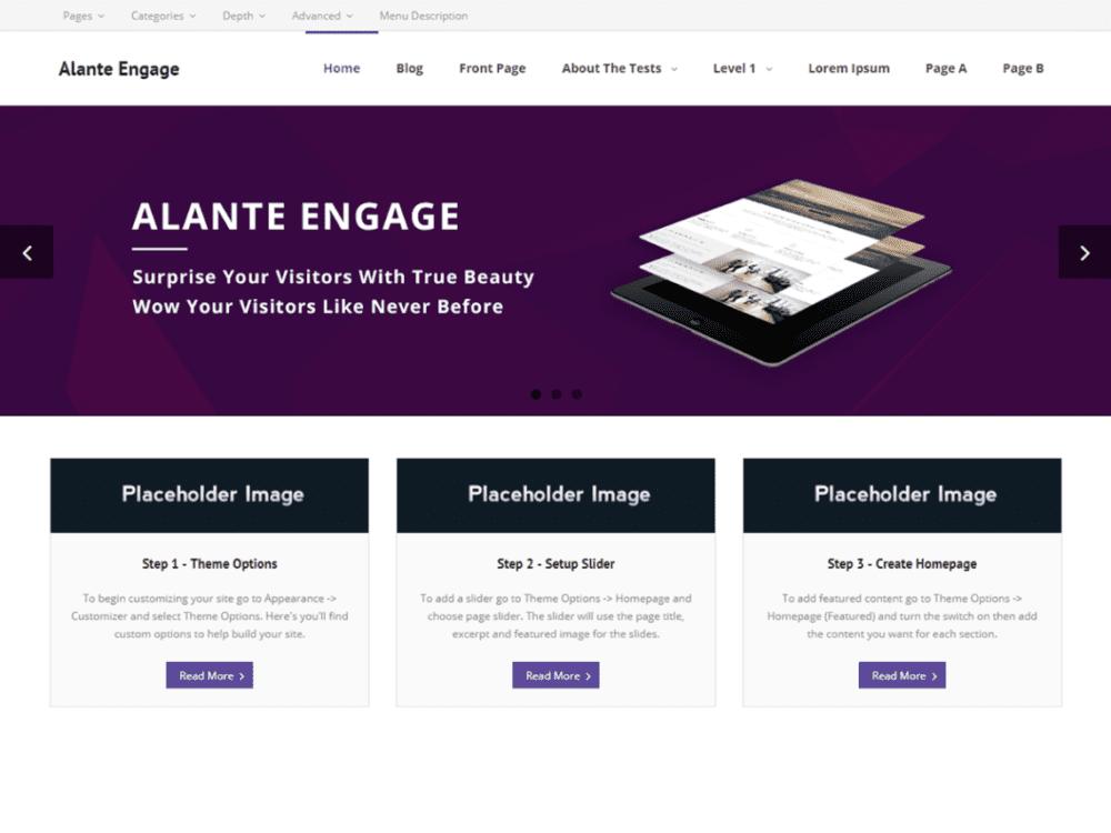Free Alante Engage Wordpress theme