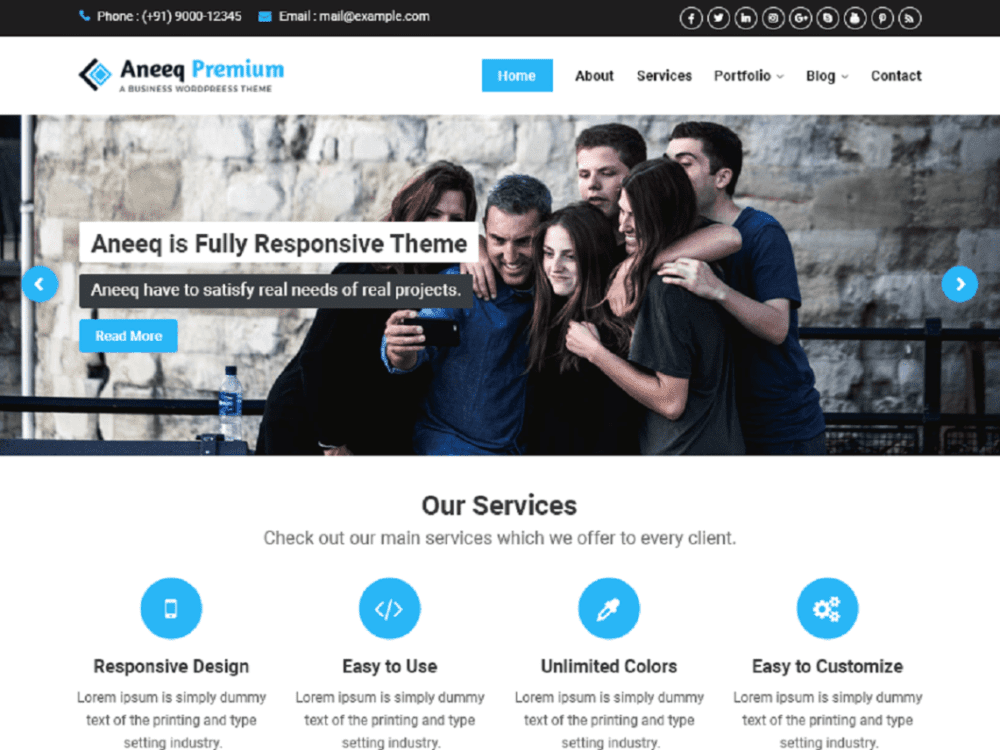 Free Aneeq Wordpress theme