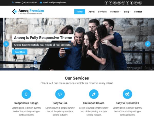 Free Aneeq Wordpress theme