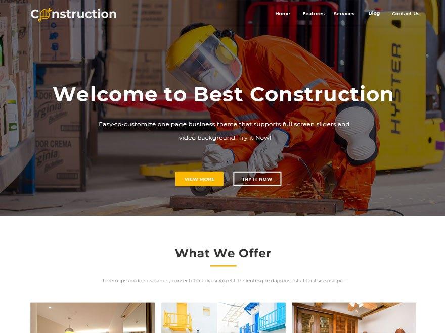 Free Best Construction Wordpress theme