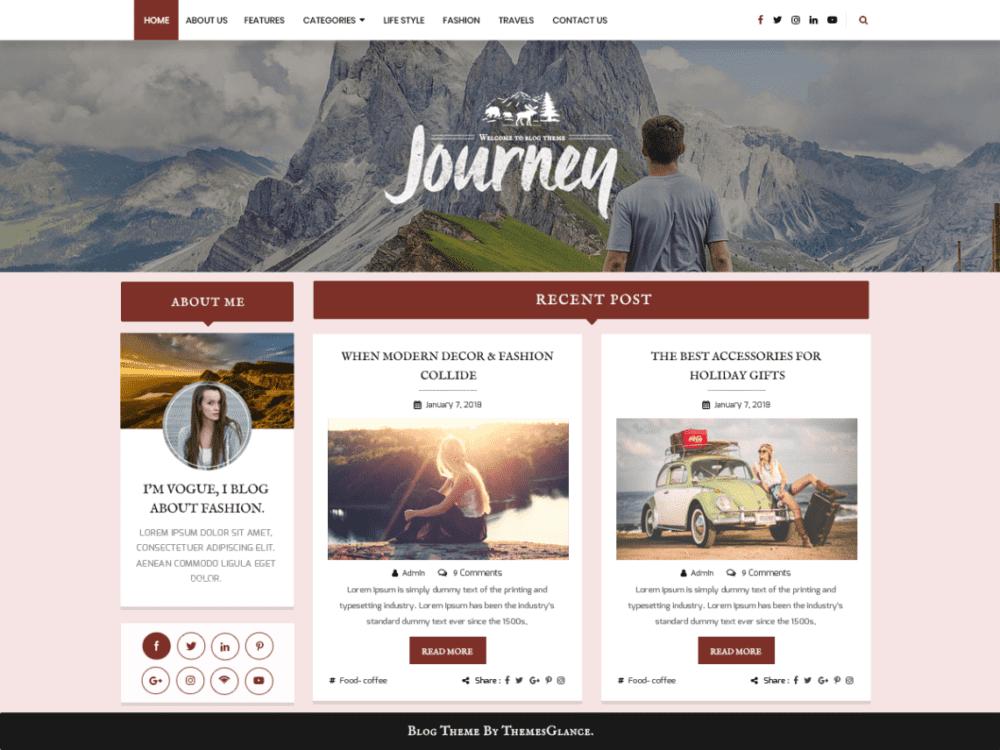 Free Blogger Hub Wordpress theme