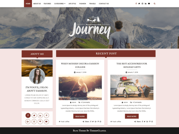 Free Blogger Hub Wordpress theme