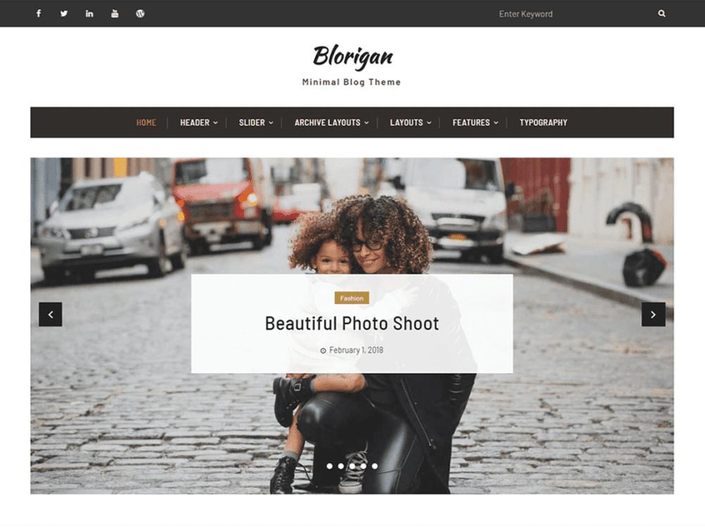 Free Blorigan Wordpress theme