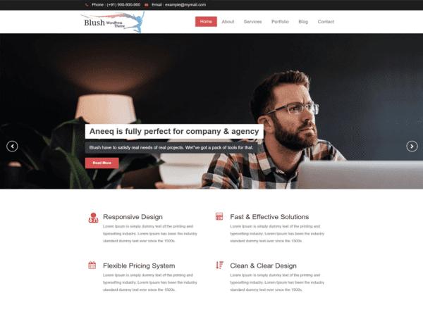Free Blush Wordpress theme