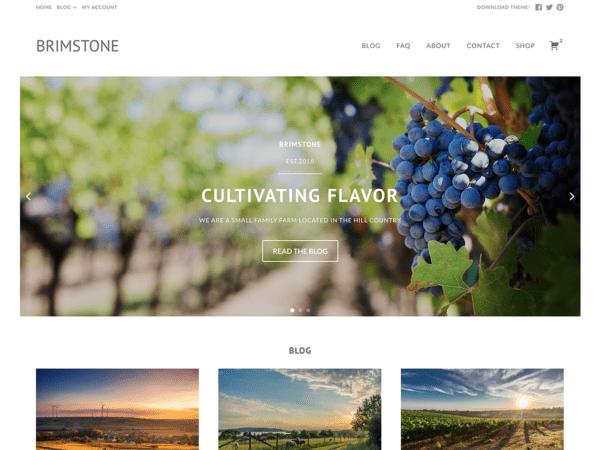 Free Brimstone Wordpress theme