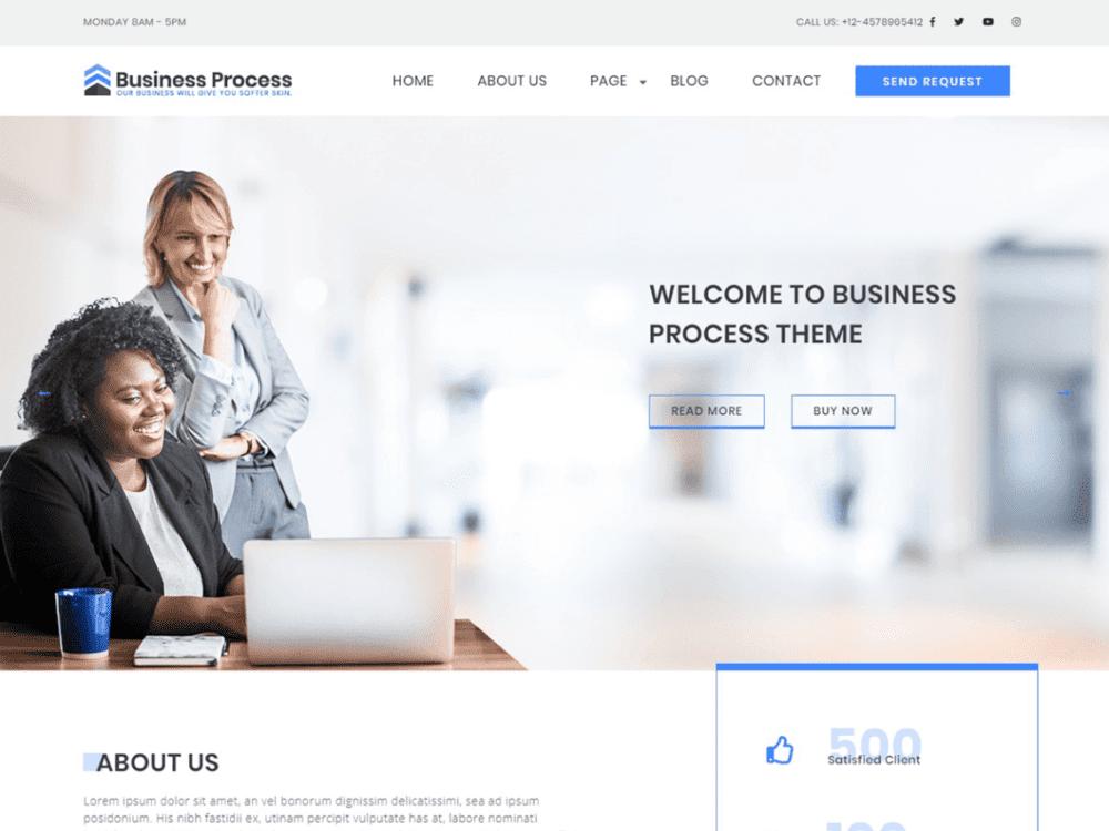 Free Business Process Wordpress theme