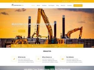 Free Construction Field WordPress theme