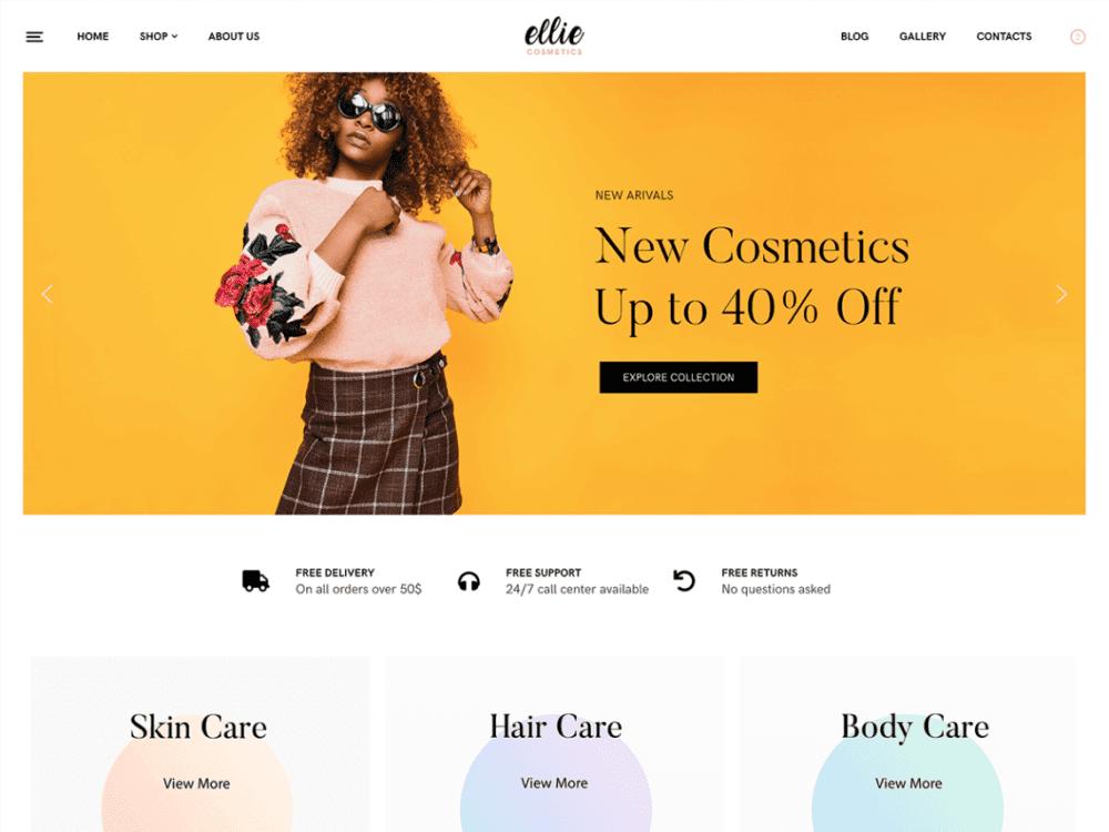 Free Ellie Wordpress theme