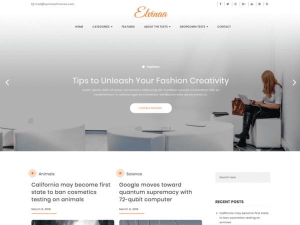 Free Elvinaa Wordpress theme