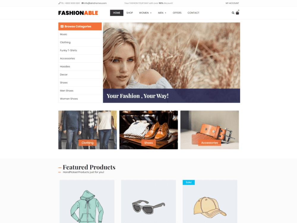 Free Fashionable Store Wordpress theme