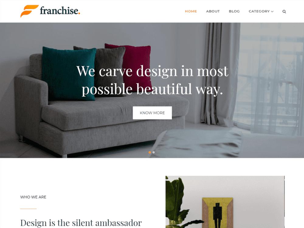 Free Franchise Wordpress theme