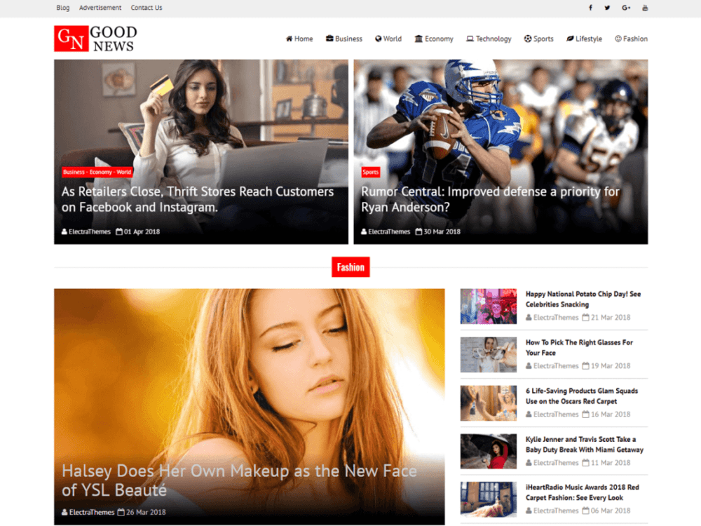 Free Good News Lite Wordpress theme