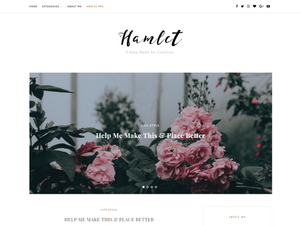 Free Hamlet Lite Wordpress theme