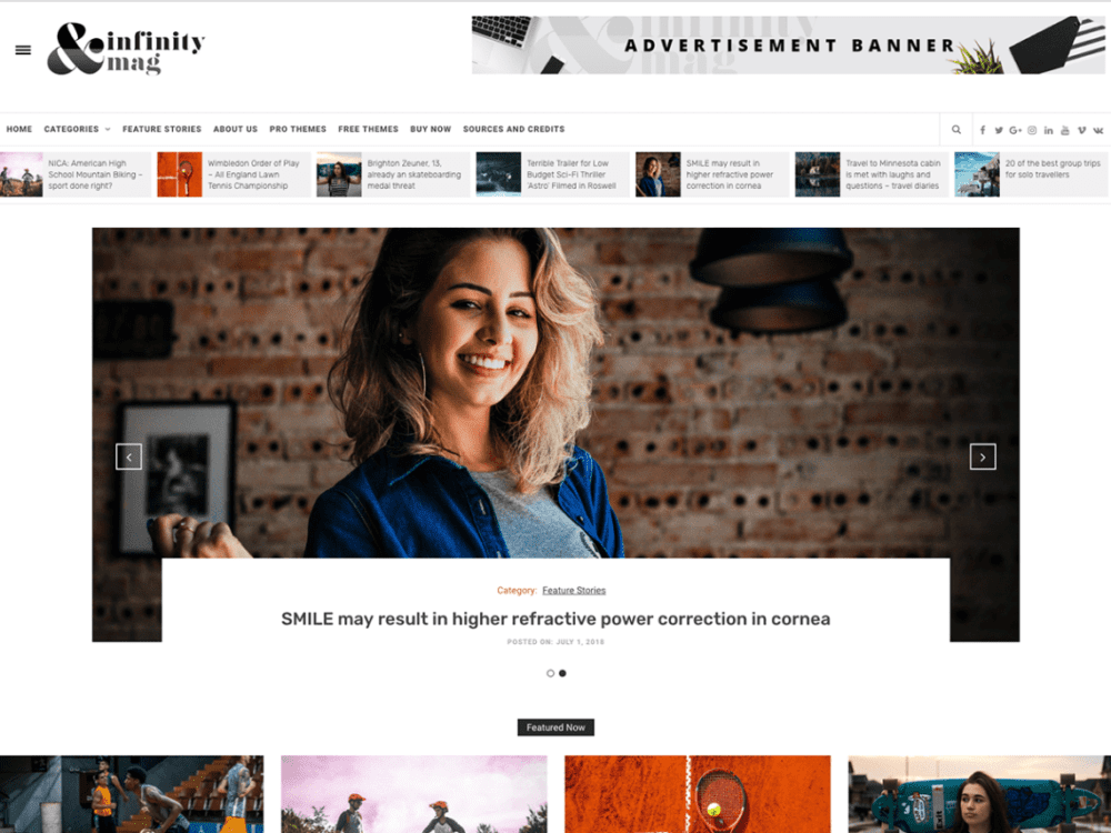 Free Infinity Mag Wordpress theme