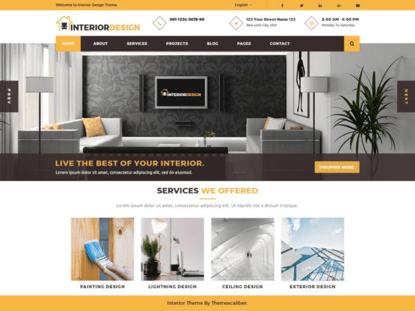 Free Interior Designs Wordpress theme