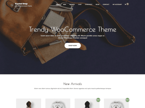 Free Krystal Shop Wordpress theme