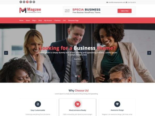 Free MagZee Wordpress theme