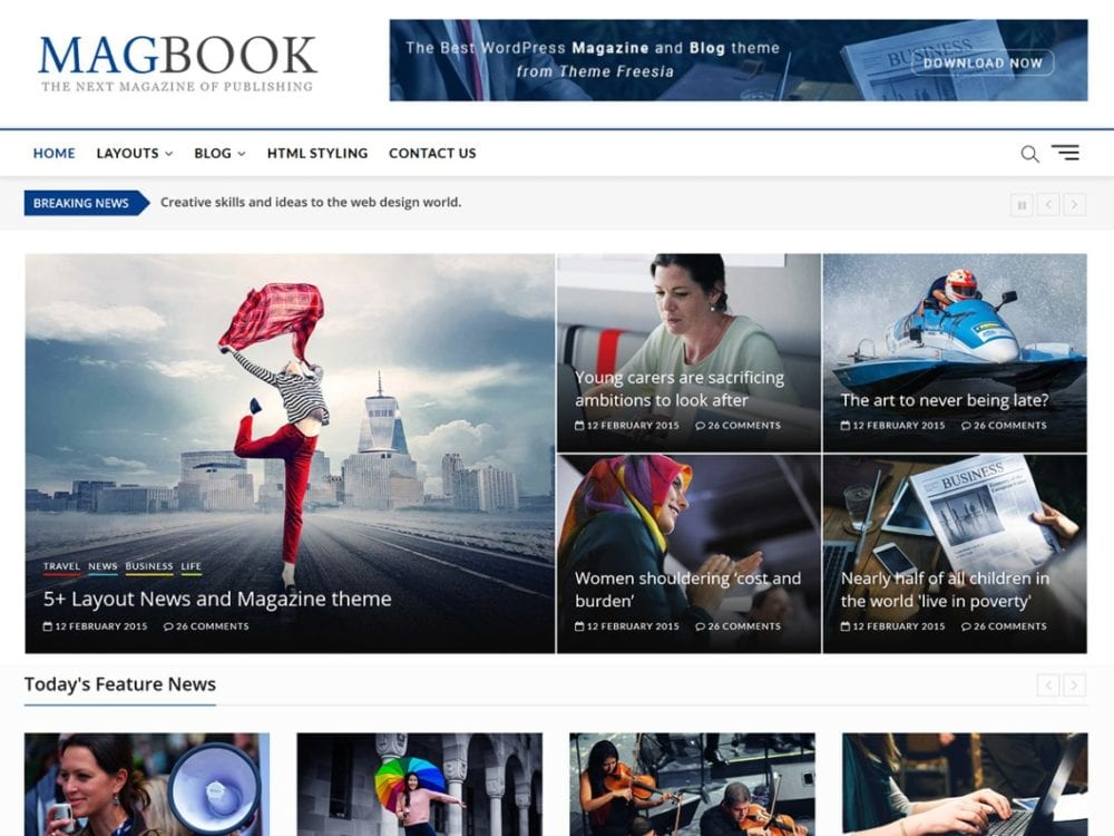 Free Magbook Wordpress theme