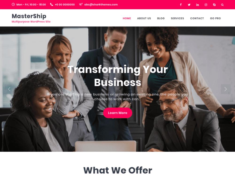 Free Mastership Wordpress theme