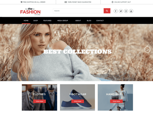 Free Multipurpose Ecommerce Wordpress theme