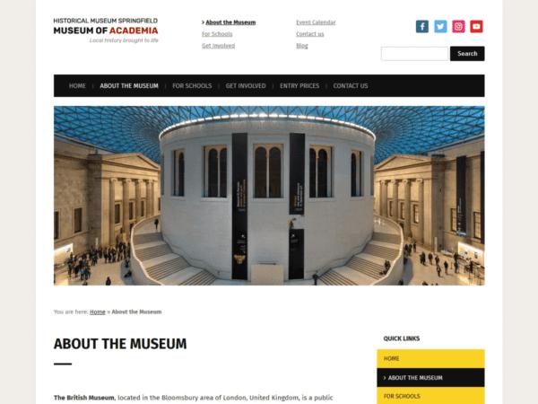 Free Museo Wordpress theme