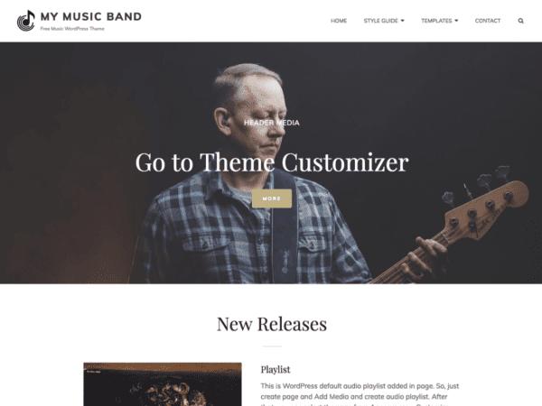 Free My Music Band Wordpress theme